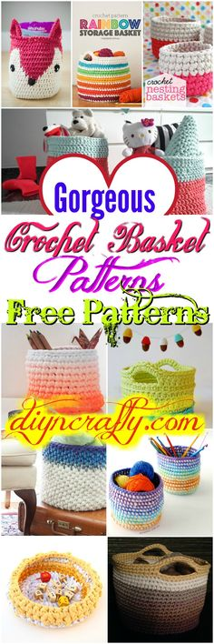 I have rounded up a list of #crochet #basket patterns that will help you out to make your home well organized and more beautiful.