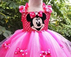 Funky Minnie Mouse Tutu Dress with Bow Tie Decorations