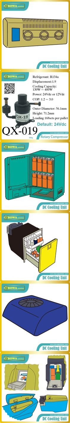 DC12V and DC24V compressor (130W~400W cooling capacity)  suitable for car cooler and portable cooling system