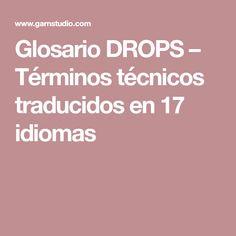 Glosario DROPS – Términos técnicos traducidos en 17 idiomas