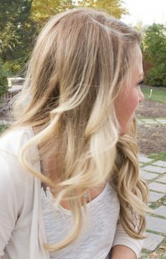 natural looking blonde ombre