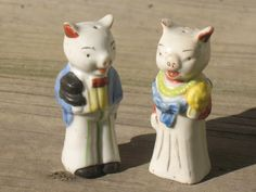 Pig Couple Salt and Pepper Shakers. 11.00, via Etsy.