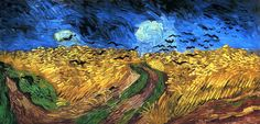 Vincent van Gogh, Wheatfield with Crows , 1890  (clic na imagem)