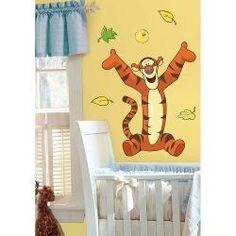 Adesivo Para Quarto De Bebê Tigrão Gigante Disney Removível - Ursinho Pooh E Seus Amigos - Roommates