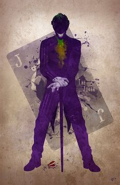 Original Giclee Art Print 'The Joker' by DigitalTheory on Etsy