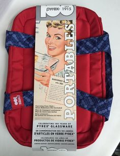 Pyrex 100th Anniversary Portables Carrier Insulated Limited Edition Red Blue New #Pyrex