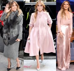Jennifer Lopez In Roberto Cavalli, Reem Acra & Solace London - greys and pastels in fashion done perfectly!
