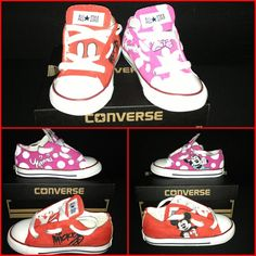 9d796f190ee4a1 Custom Hand-Painted Mickey Mouse Toddler (sz 2-10) Chucks Converse
