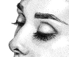 Audrey Hepburn Stippling Drawing on Behance                                                                                                                                                      More