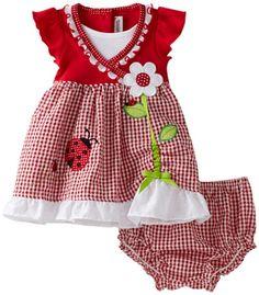 Youngland Baby-girls Infant Ladybug Flower Pick Up Hem Seersucker Sundress, Red, 24 Months Toddler Dress, Toddler Outfits, Baby Dress, Kids Outfits, Newborn Girl Outfits, Baby Outfits, Little Girl Dresses, Girls Dresses, Kids Tops