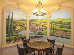 Window wine mural