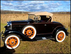 Vintage Car Models 1930 Ford Model A Deluxe Rumble Seat Roadster for sale by Mecum Auction - American Classic Cars, Ford Classic Cars, Ford Roadster, Car Ford, Vintage Cars, Antique Cars, Vintage Auto, Automobile, Lifted Ford Trucks
