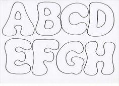 lettres en feutrine letras fieltro