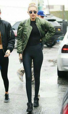 Gigi hadid style of Yeezys season 3
