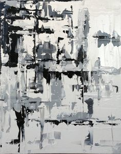 Abstract Painting Contemporary Black White by OriginalArtbyJen, $190.00