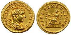 aureus coin of Elagabalus