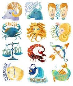 The 12 Zodiac Signs! I am a Cancer! ^_^