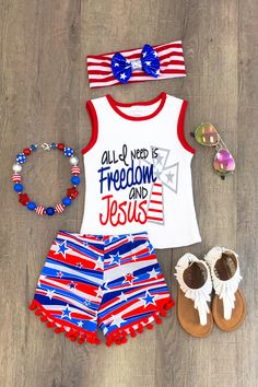 """All I Need is Freedom and Jesus"" Short Set"