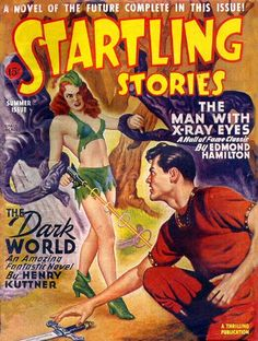 SUPERB A4 GLOSSY PRINT - 'STARTLING STORIES - THE DARK WORLD' (A4 PRINTS - VINTAGE SCI-FI COMIC COVERS) by Unknown http://www.amazon.co.uk/dp/B0044MJZ1K/ref=cm_sw_r_pi_dp_ASJnvb1A5SPCV