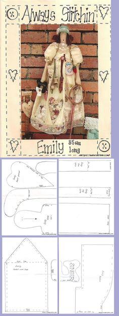 Doll Sewing Patterns, Sewing Toys, Doll Clothes Patterns, Felt Crafts Dolls, Homemade Dolls, Soft Dolls, Diy Doll, Fabric Dolls, Handmade Toys