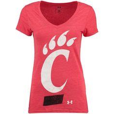 Cincinnati Bearcats Under Armour Women's Tri-Blend V-Neck T-Shirt - Red - $29.99