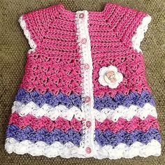 "Baby Cardigan ""Stripes and Bubbles"" by Kinga Erdem - free crochet pattern (and variations)"