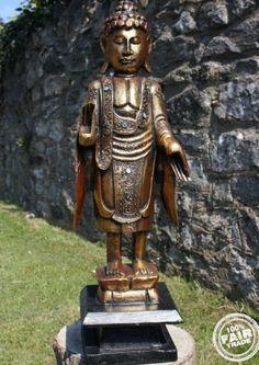 Fairtrade Golden Standing Thai Buddha Statue 60 Cm