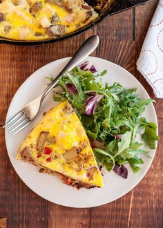 Recipe: Frittata with Potato, Red Pepper & Gouda