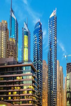 Located in Dubai, just a walk from The Walk at JBR, Jumeirah Beach Residence provides beachfront accommodations with a garden, a bar, a terrace. Dubai Hotel, Sharjah, Beautiful Hotels, Free Wifi, Conditioning, Mall, Terrace, Skyscraper, Multi Story Building