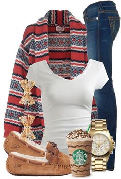 , Ugg boots, 50 Cute Christmas Outfits Ideas To Copy - EcstasyCoffee Look Fashion, Teen Fashion, Womens Fashion, Fashion Trends, Fashion Ideas, Fall Fashion, Diy Fashion, Fashion Outfits, Fashion 2016