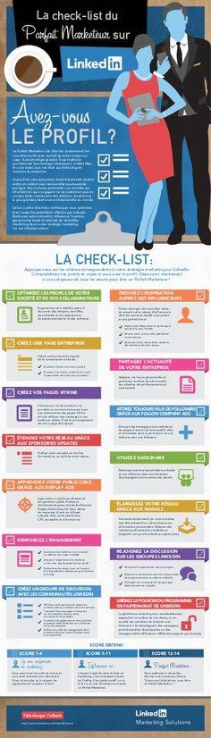 La check-list du Parfait Marketeur sur #LinkedIn #socialmedia | #infographie