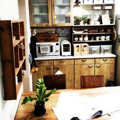 植物/M224さん♡/食器棚/キッチン収納/Kitchenのインテリア実例 - 2015-03-02 21:20:57   RoomClip(ルームクリップ)