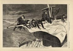Winter at Sea--Taking in Sail off the Coast, from Harper's Weekly, January 16, 1869, 1869, Winslow Homer, wood engraving on paper, 9 1/8 x 13 7/8 in. (23.2 x 35.2 cm), 11 x 16 in. (27.9 x 40.6 cm), Smithsonian American Art Museum, The Ray Austrian Collection, gift of Beatrice L. Austrian, Caryl A. Austrian and James A. Austrian, 1996.63.72