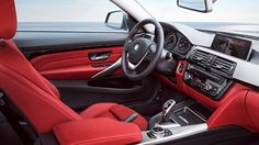 2014 BMW 4 Series Coupe Leaked Images black red silver grey interior dash console