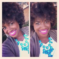 Natural hair - dreams in turquoise