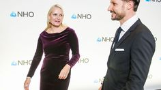Crown Prince Haakon and Crown Princess Mette Marit attend the NHO Annual Conference dinner