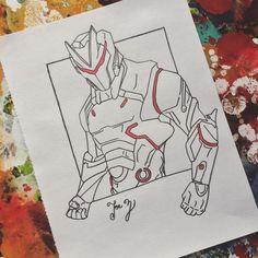 Fortnite season 4 Omega skin  Line art