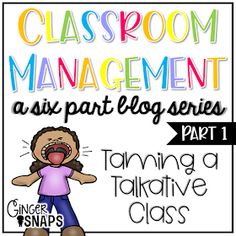 Ginger Snaps: Classroom Management Series: Part 1 {Talking} 7 ideas for dealing with a talkative class! Kindergarten Classroom Management, Classroom Discipline, Classroom Management Strategies, 4th Grade Classroom, Special Education Classroom, Preschool Classroom, Classroom Activities, Classroom Ideas, Classroom Organization