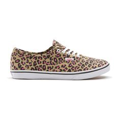 Vans Authentic Lo Pro Leopard Khaki/Hot Pink