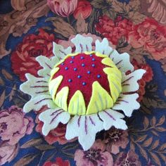 fReemade Friday - William Morris Sunflower Pincushion