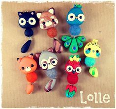 Image of: Doll Animales Dhgatecom 376 Best Polymer Clay Charms Animals Images Kawaii Jewelry