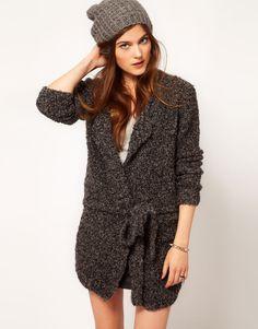 American Vintage Wool and Alpaca Belted Cardigan