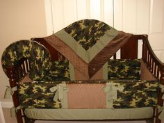 Camouflage Baby Bedding Crib Set, You Design, Many Colors Available - Modern Camo Crib Bedding, Baby Crib Bedding Sets, Crib Sets, Baby Cribs, Baby Mattress, Nursery Bedding, Camo Nursery, Camouflage Baby, Mesas Para Baby Shower