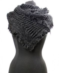 Ultra Cozy Black Knitted Fall/Winter Fashion Scarf