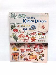 KITCHEN CROSS STITCH PATTERN, Cute cross stitch design, counted cross stitch #AmericanSchoolofNeedlework