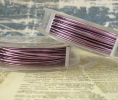 18 gauge Silvered Lavender Wire - Unkamen Supplies - beautiful colors and high quality of wire ;)