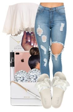 A fashion look from May 2017 featuring Puma sandals, Michael Kors shoulder bags and Dogeared necklaces. Browse and shop related looks. Cute Swag Outfits, Dope Outfits, Girly Outfits, Cute Summer Outfits, School Outfits, Outfits For Teens, Spring Outfits, Casual Outfits, Fashion Outfits