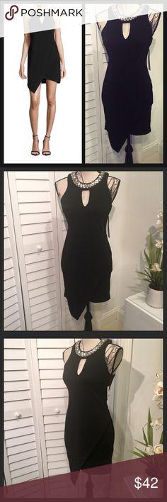 NWT Stunning Black Embellished Collar Mini Dress NWT Stunning Embellished Collar Halter Black Mini Dress Dresses Mini