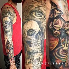 Amazing 3d Tattoos, S Mo, Tattoo Artists, Skull, Ink, Portrait, Instagram, Drawings, Tattoo