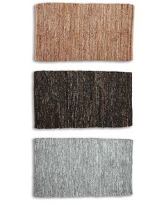 Eileen Fisher Recycled-Leather Rug